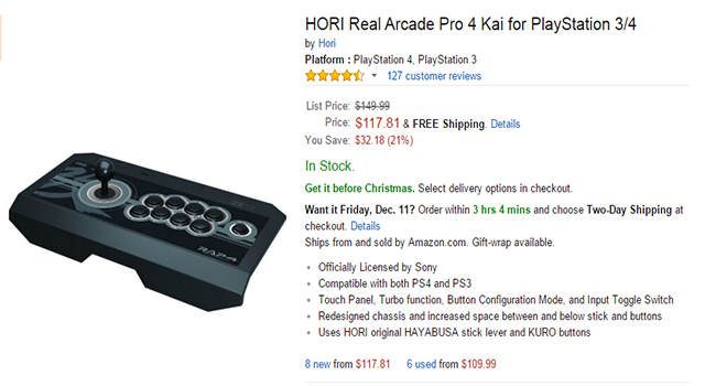 Hori Real Arcade Pro 4 Kai Now On Sale!! – Fighting Games Online